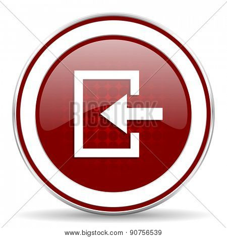 enter red glossy web icon