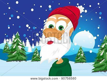 funny skinny santa claus