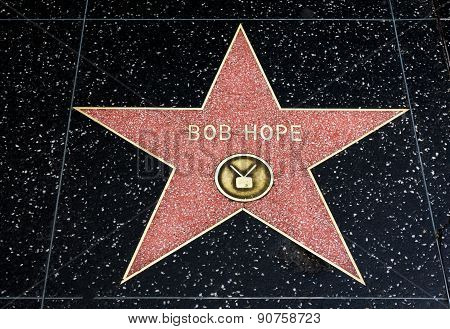 Bob Hope Star On The Hollywood Walk Of Fame
