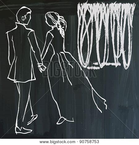 Art Of Line Art - Lovers