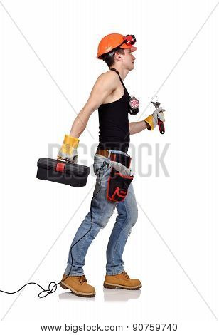 Worker With Toolbelt