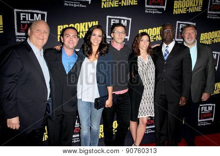 LOS ANGELES - MAY 7:  Cast if Brooklyn Nine-Nine at the An Evening With Brooklyn Nine Nine at LACMA on May 7, 2015 in Los Angeles, CA