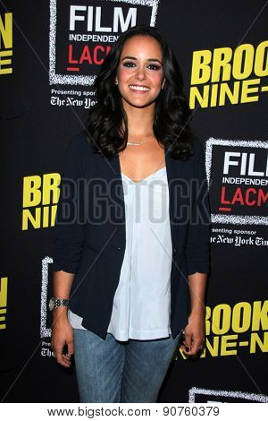 LOS ANGELES - MAY 7:  Melissa Fumero at the An Evening With Brooklyn Nine Nine at the Bing Theater at LACMA on May 7, 2015 in Los Angeles, CA