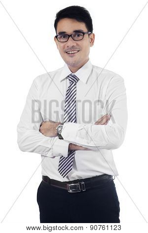Modern Businessman Isolated On White 1