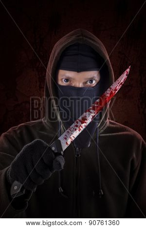 Murderer With Bloody Knife 3