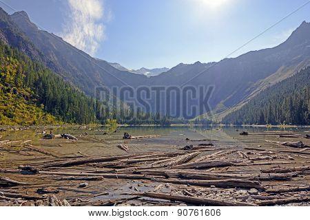 An Alpine Lake In Morning Light