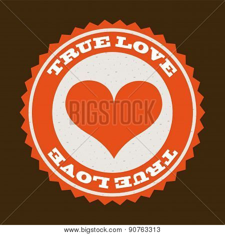 True love design day over brown background vector illustration