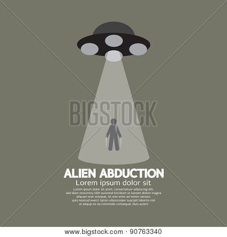Alien Abduction With Ufo Spaceship.