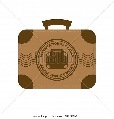 travel icon over white background with suitcase