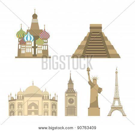 International travel design set over white background vector illustration