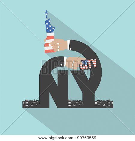 New York City Typography Design.