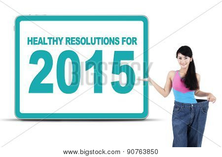 Woman With Healthy Resolutions For 2015