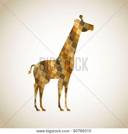 Africa giraffe  design over beige background vector illustration