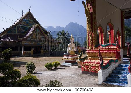 Buddist temple at ban Phatang, Lao people democratic republic