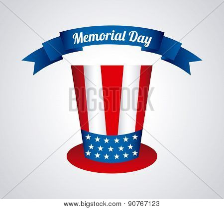 Memorial Day design over gray background vector illustration