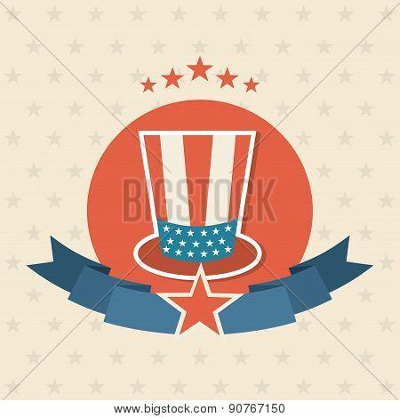 USA design over  background vector illustration