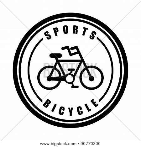 Bike design over white background vector illustration