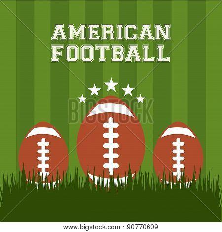 American football design over green background vector illustrati