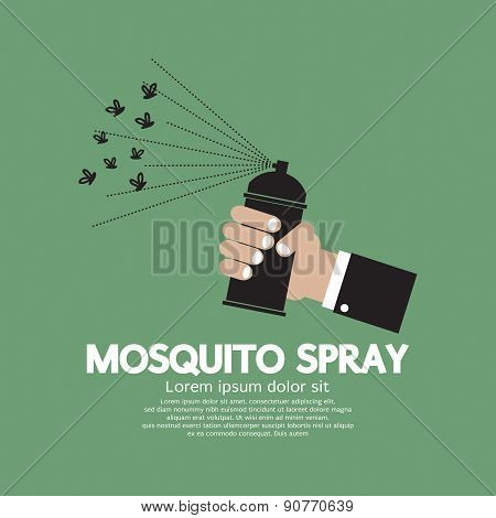 Mosquito Spray In Hand.