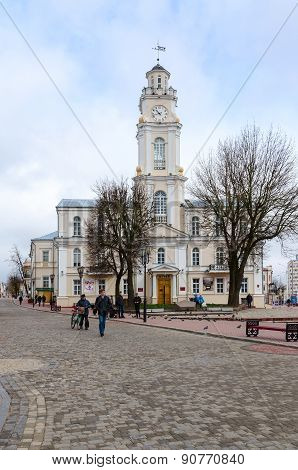 Town Hall On Suvorova Street In Vitebsk, Belarus
