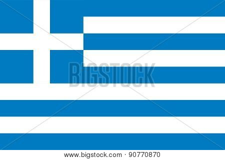 The Official Flag Of Greece