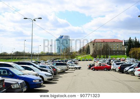 Barclays Bank Office In Vilnius City On April 24, 2015