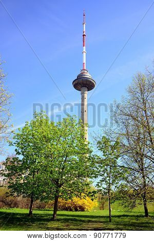 Vilnius Tv Television Tower On Spring Time