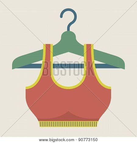 Single Women Sport Bra On Hanger.