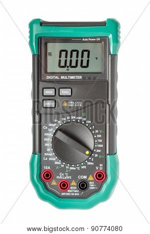Isolated digital multimeter top view