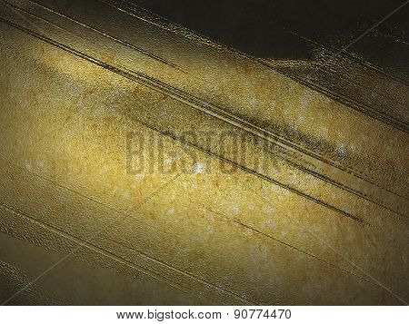 Grunge Gold Texture With High Details. Template