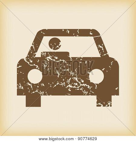 Grungy car icon