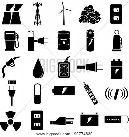 energy symbols set