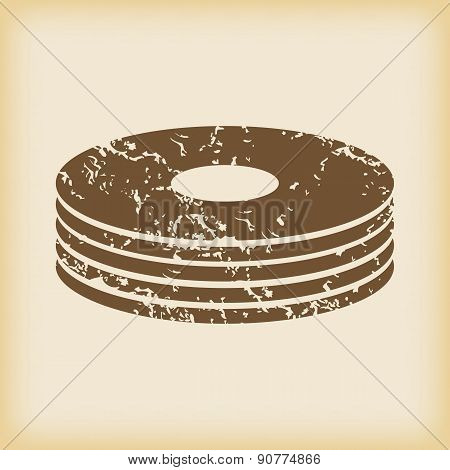 Grungy disc pile icon