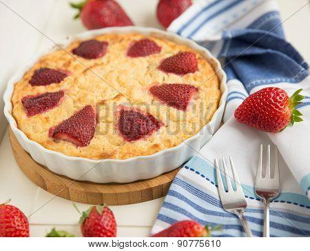 Homemade Strawberry Vanilla Cake