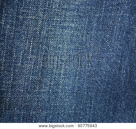 Blue Jeans Background Or Texture.