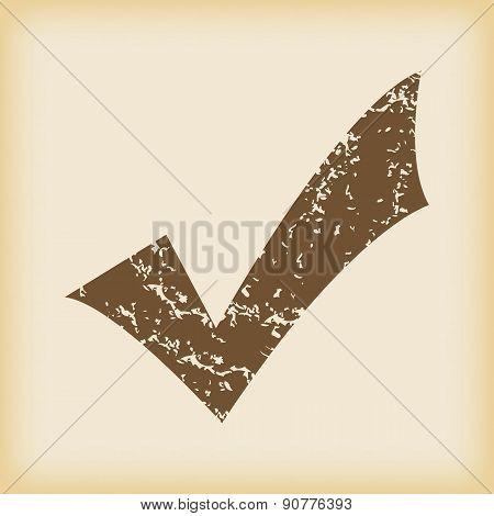 Grungy tick mark icon