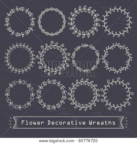 Flower Decorative Wreaths
