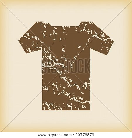 Grungy t-shirt icon
