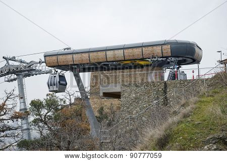 End Point of cable car in Tbilisi