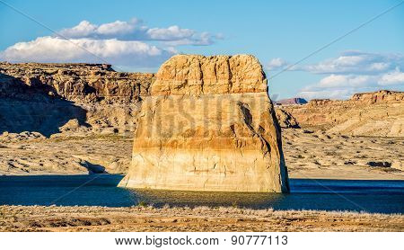 Lone Rock In Lake Powell Arizona Usa