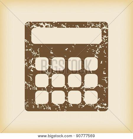 Grungy calculator icon