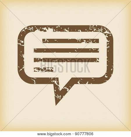Grungy message icon