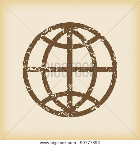Grungy globe icon