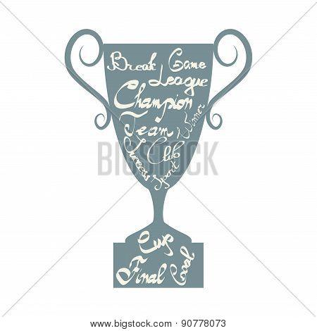 Winner Cup Silhouette
