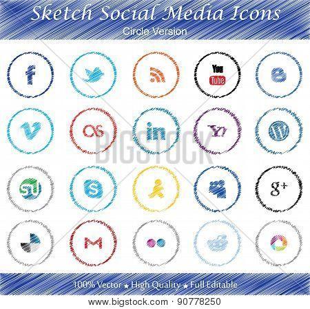 Sketch Social Media Icons