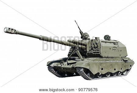 Self-propelled Artillery Isolated On White Background