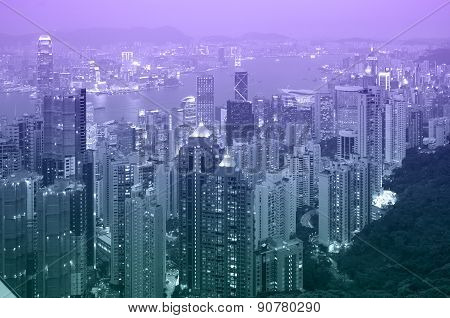 Hong Kong At Sunset