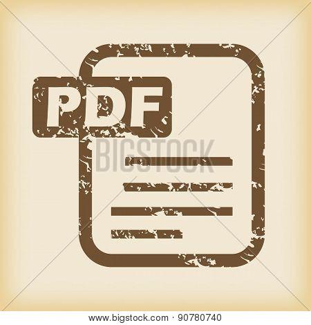 Grungy pdf file icon