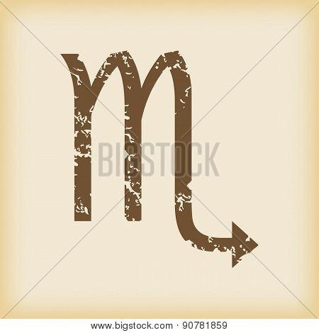 Grungy scorpio icon
