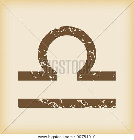 Grungy libra icon